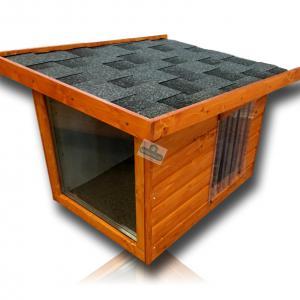 Panoráma féltetős kutyaház 60x80