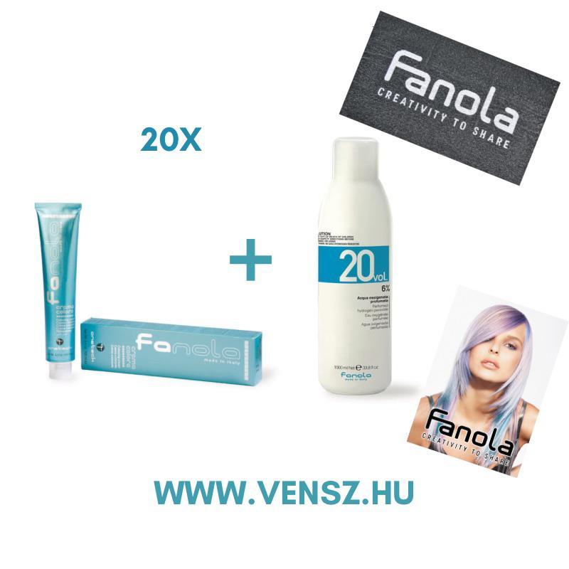 #3 Fanola Color festék akció (20 festék = Fanola 6% 2db + Fanola törölköző 2db + Vendégkártya)