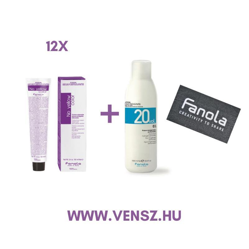 #3 Fanola No Yellow hajfesték akció (12 festék = 1db Fanola 6%+ Fanola törölköző)