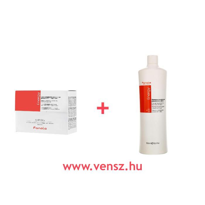 #5 Fanola Energy hajhullás elleni ampulla 12x10ml + ajándék Energy hajhullás elleni sampon 1000ml