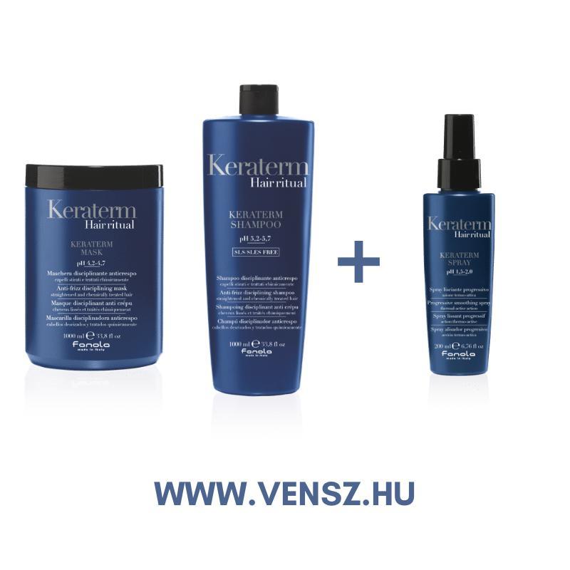 #5 Fanola Keraterm sampon és maszk (1000ml) 1-1db + ajándék Keraterm spray (200ml)