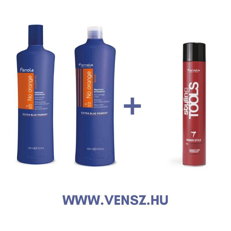 #5 Fanola No Orange sampom 1000ml, No Orange maszk 1000ml + ajándék S Tools Extra erős hajlakk 500ml