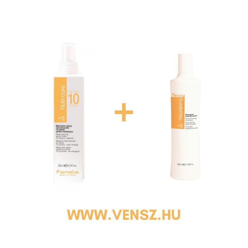 #5 Fanola Nutri Care One 10 rekonstruáló spray 200ml 1db + ajándék Nutri Care sampon 350ml