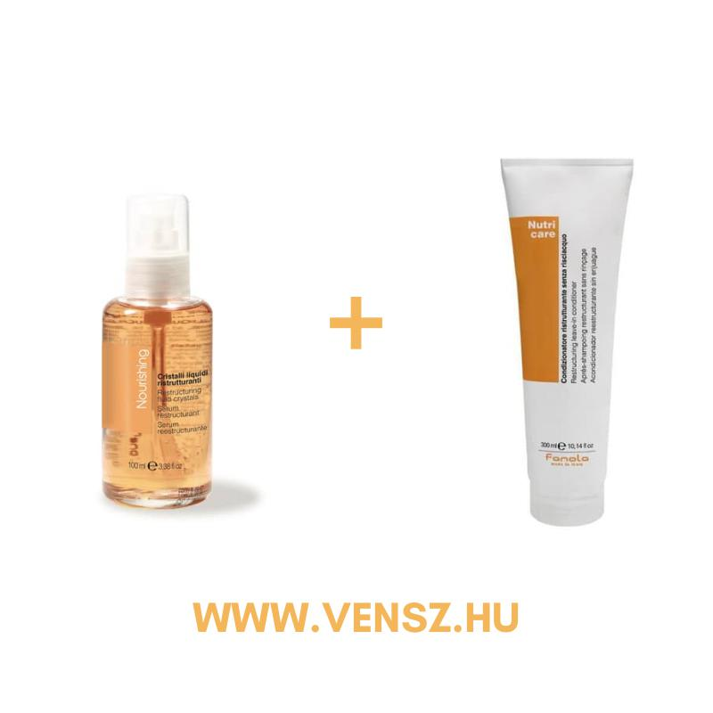 #5 Fanola Nutri Care tápláló szérum 100ml + ajándék Nutri Care hajban maradó tápláló kondicionáló 300ml