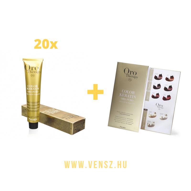 #7 Fanola Oro Therapy hajfesték akció (20 festék = Oro színskála)