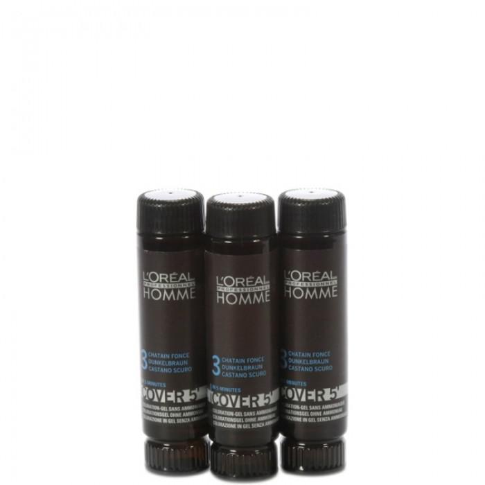 Homme Cover 5 színező 3x50ml sötétbarna - 3