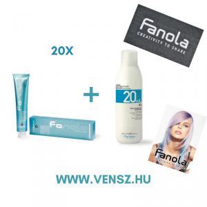 #5 Fanola Color festék akció (20 festék = Fanola 6% 2db + Fanola törölköző 2db + Vendégkártya)