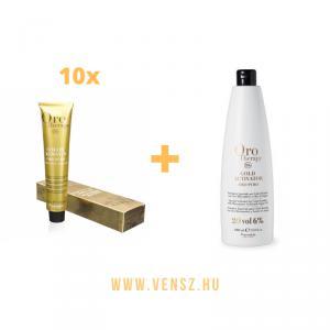 #5 Fanola Oro Therapy hajfesték akció (10 festék + 1db Oro oxi 6% 1000ml)