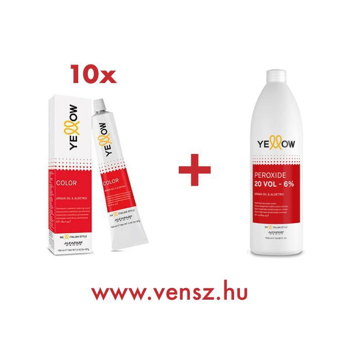 Yellow festék akció (10 festék + 1db Yellow 1000ml oxi)