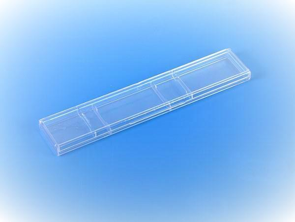 Átlátszó műanyag hosszú órás vagy karláncos díszdoboz