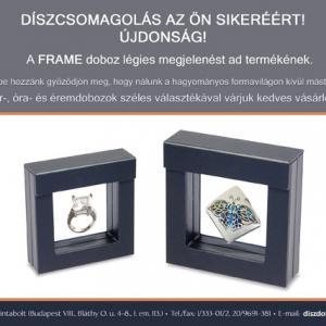 Műanyag keretes Frame 8x8, Fehér