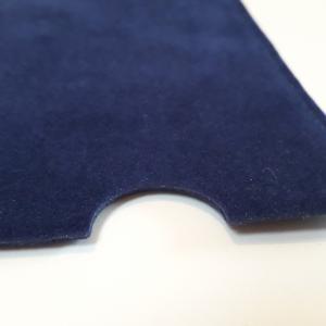 velúr névjegykártya tartó tasak, kék színben