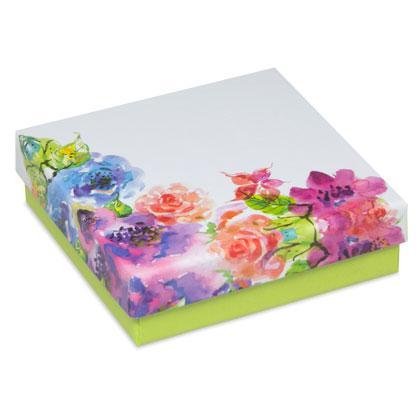 Flower - Levehető tetős virágos univerzális díszdoboz
