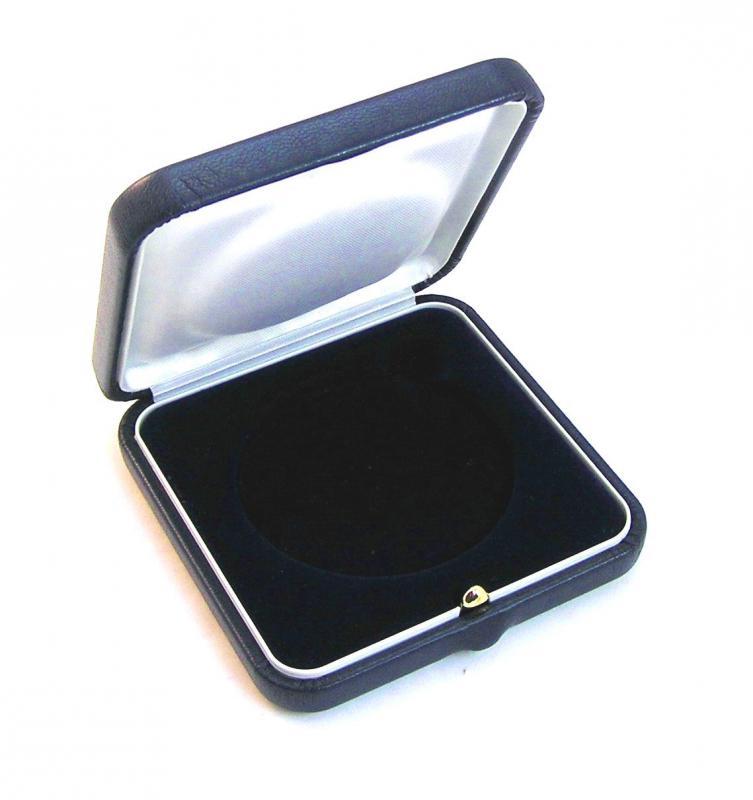 Gemini bőr borítású 80*80*28 mm éremdoboz