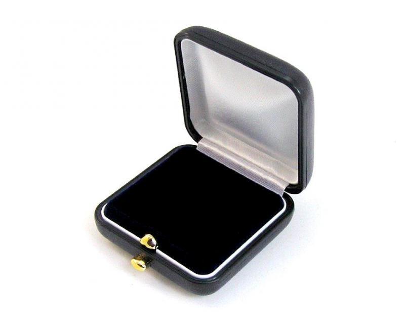 Gemini Bőrhatású fülbevalós, medálos díszdoboz