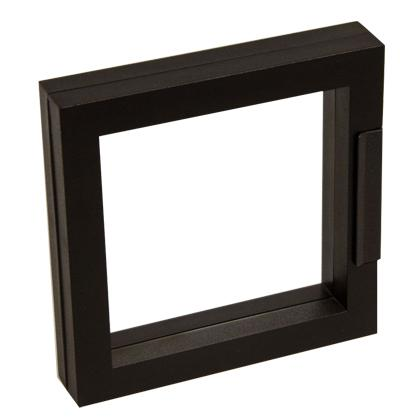 Műanyag keretes Frame 10x10 cm, Fekete