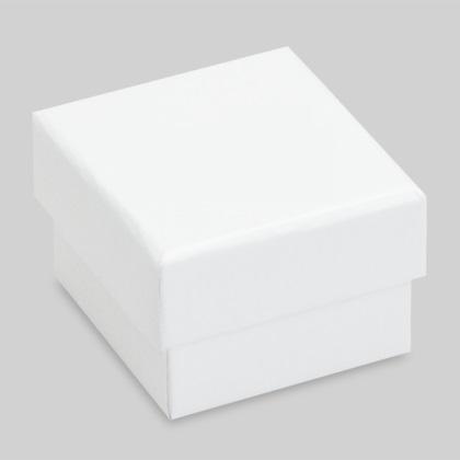 Plain gyűrűs díszdoboz, fehér színben