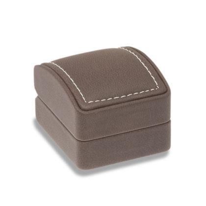 Soft Touch fülis varrott bőr díszdoboz barna