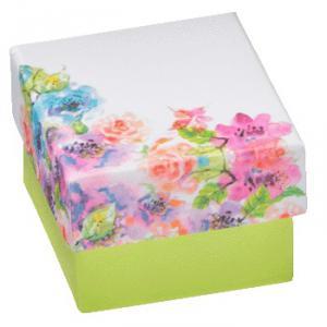 Flower levehető tetős virágos gyűrűs doboz