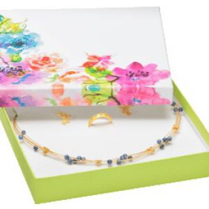 Flower levehető tetős virágos szettes díszdoboz