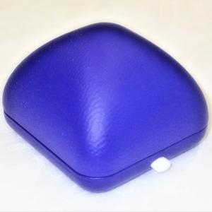 Gemini gyűrűs díszdoboz puha soft anyagból kék színben