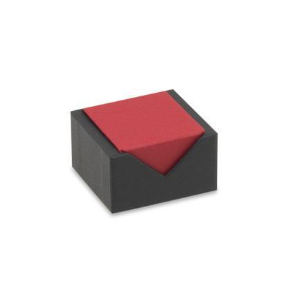 Vario gyűrűs díszdoboz, piros-fekete