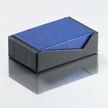 Vario - Karikagyűrűs doboz, kék-fekete