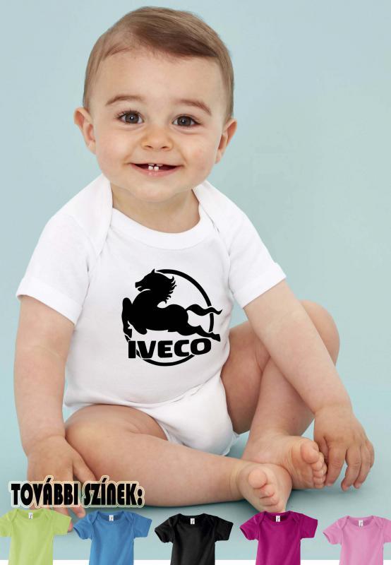 Baby body Iveco logóval