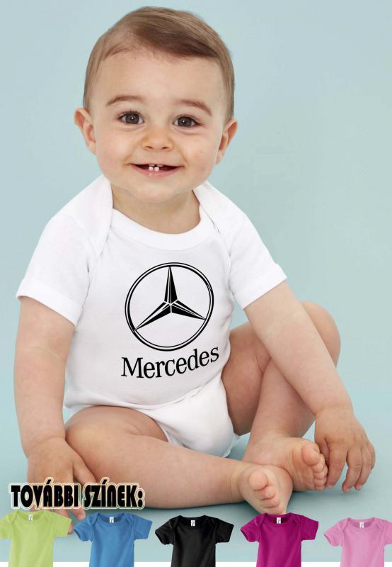 Baby body Mercedes logóval