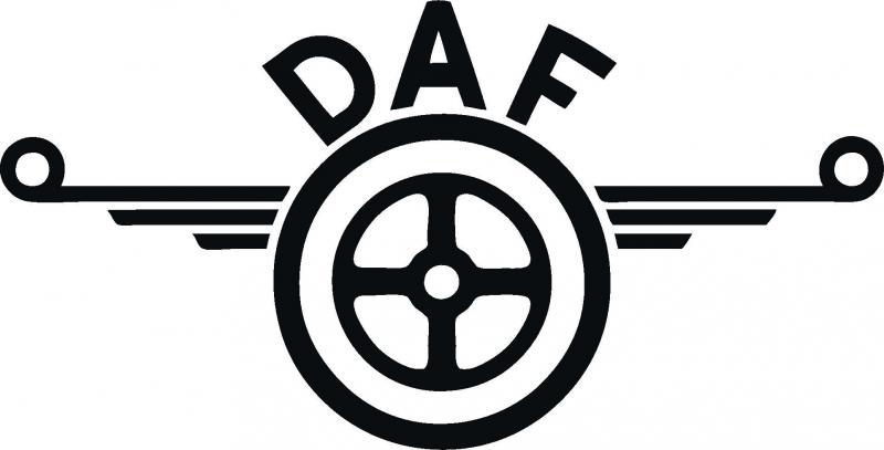 DAF matrica 45x23 cm