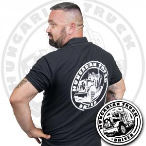 HTD Galléros póló, férfi (fekete)