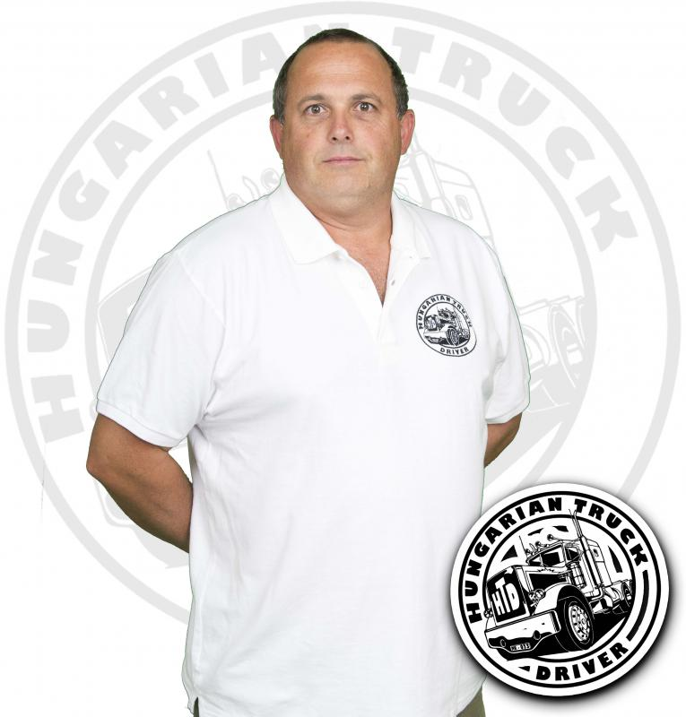 HTD Galléros póló, férfi (fehér)