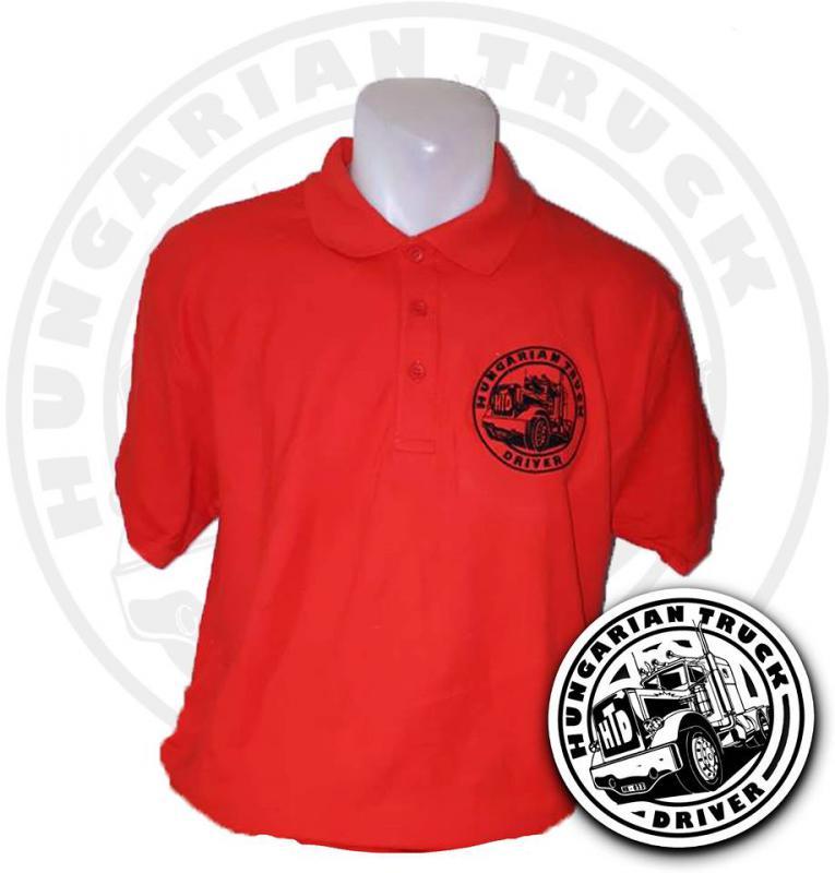 HTD Galléros póló, férfi (piros)