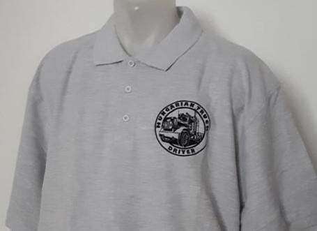 HTD Galléros póló, férfi (szürke)