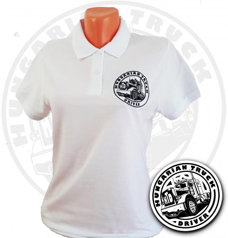 HTD Galléros póló, női (fehér)