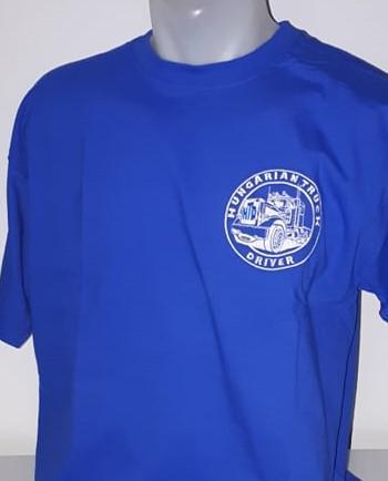 HTD kerek nyakú póló, férfi (kék)
