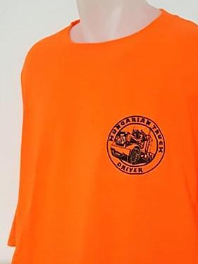 HTD kerek nyakú póló, férfi (narancssárga)