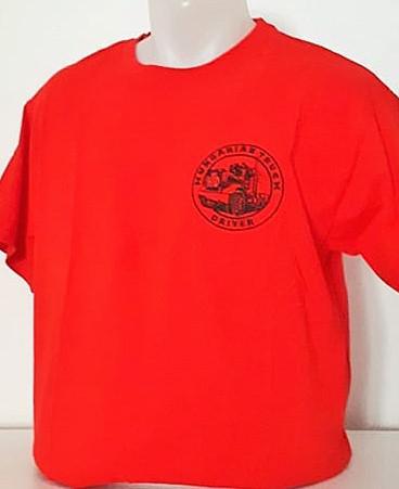 HTD kerek nyakú póló, férfi (piros)