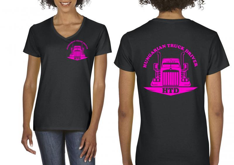 HTD női karcsúsított póló, két oldalon logózva