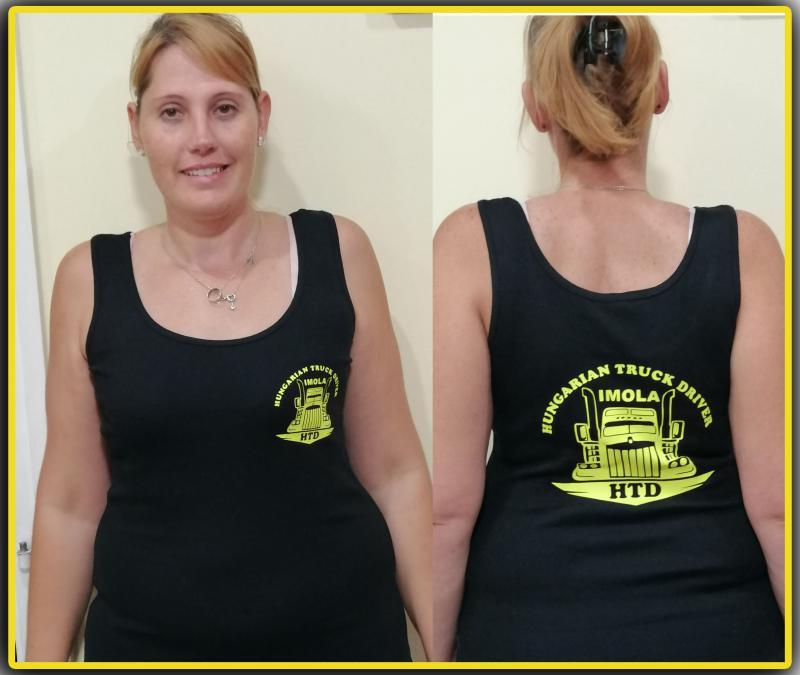 HTD női trikó, két oldalon logózva
