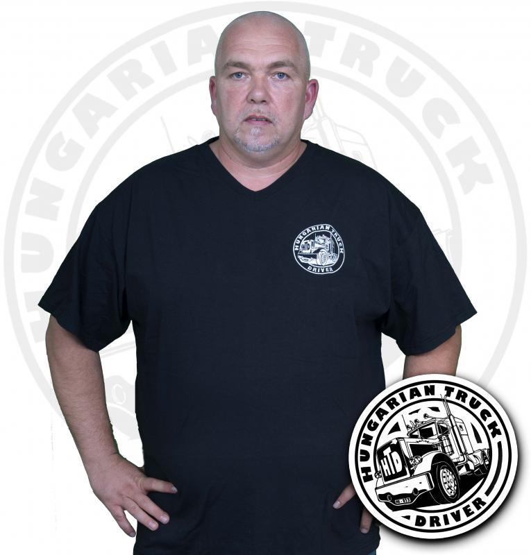 HTD V nyakú póló, férfi (fekete)