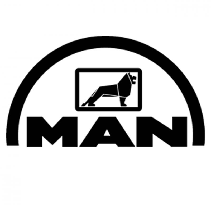 MAN matrica 45x25 cm