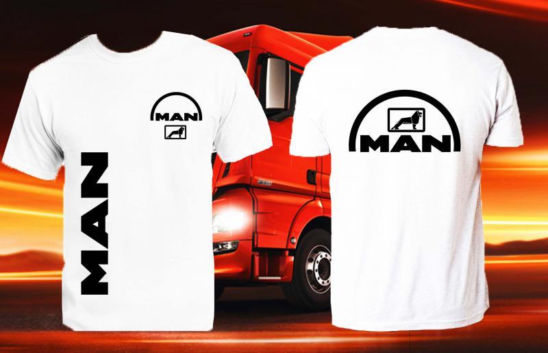MAN póló két oldalon logóval