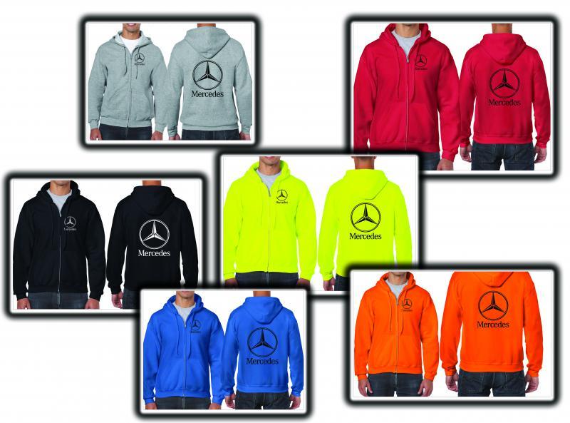 Mercedes férfi pulóver (cipzáros)