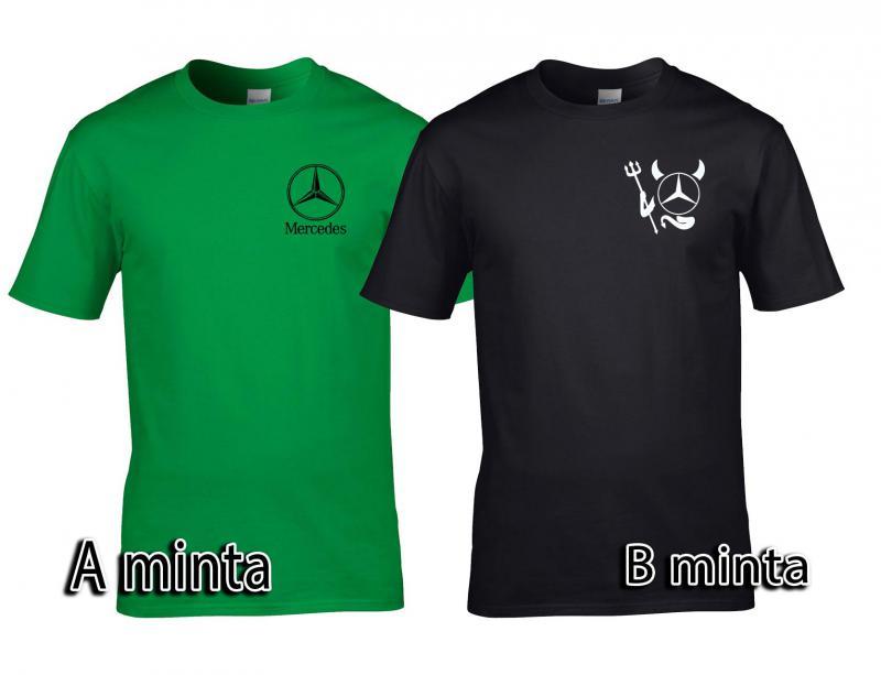 Mercedes póló elől kis logóval