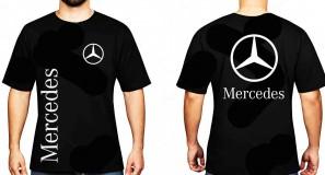 Mercedes póló két oldalon logóval
