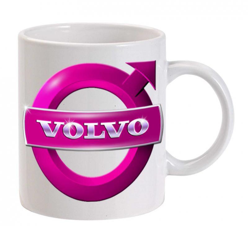 Volvo bögre, pink logóval