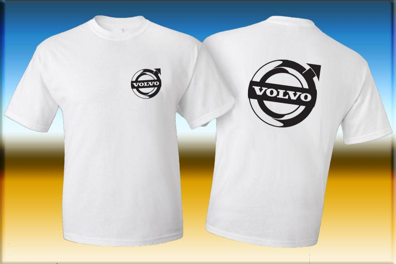 Volvo póló két oldalon logóval