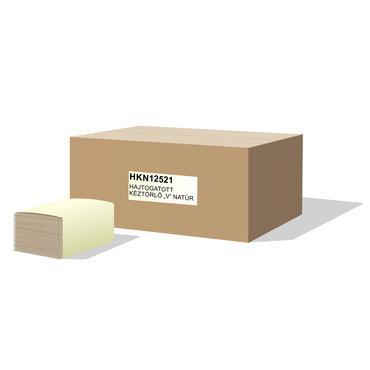 """Hajtogatott kéztörlő papír """"V"""" natúr, 1 rétegű, 20x250 lap"""