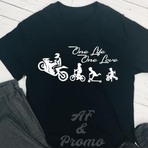 One Life One Love motoros póló